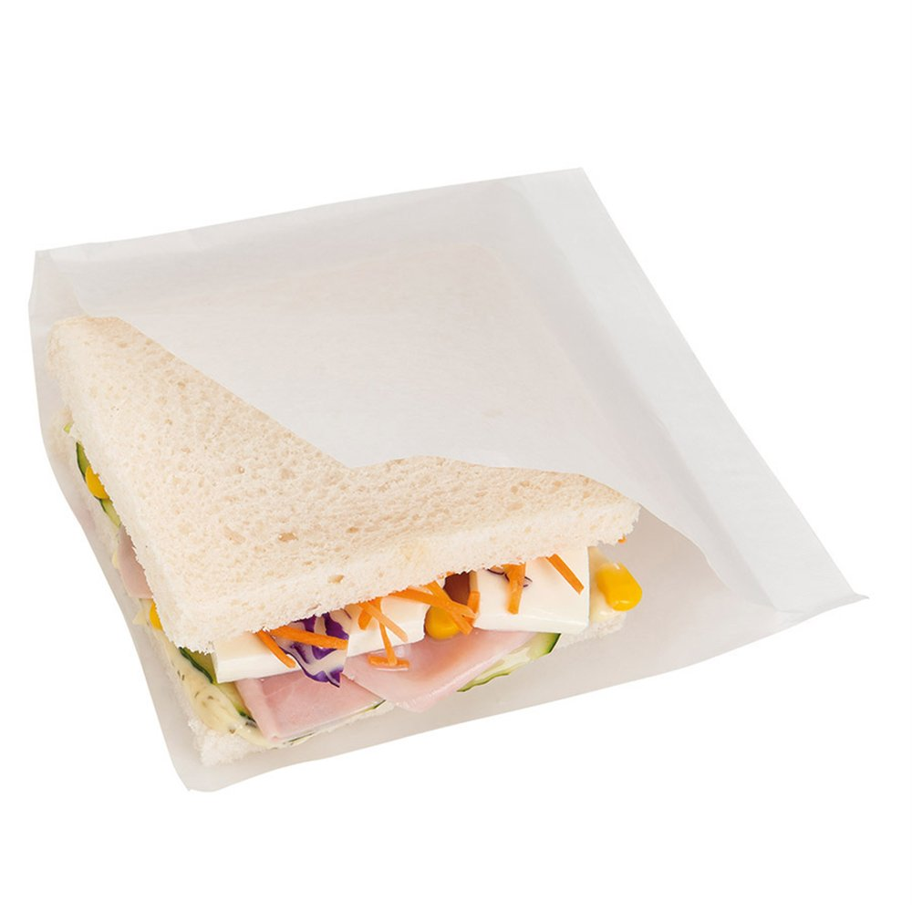 Sachet papier laminé blanc 2 côtés ouverts 15x15,2cm - par 100