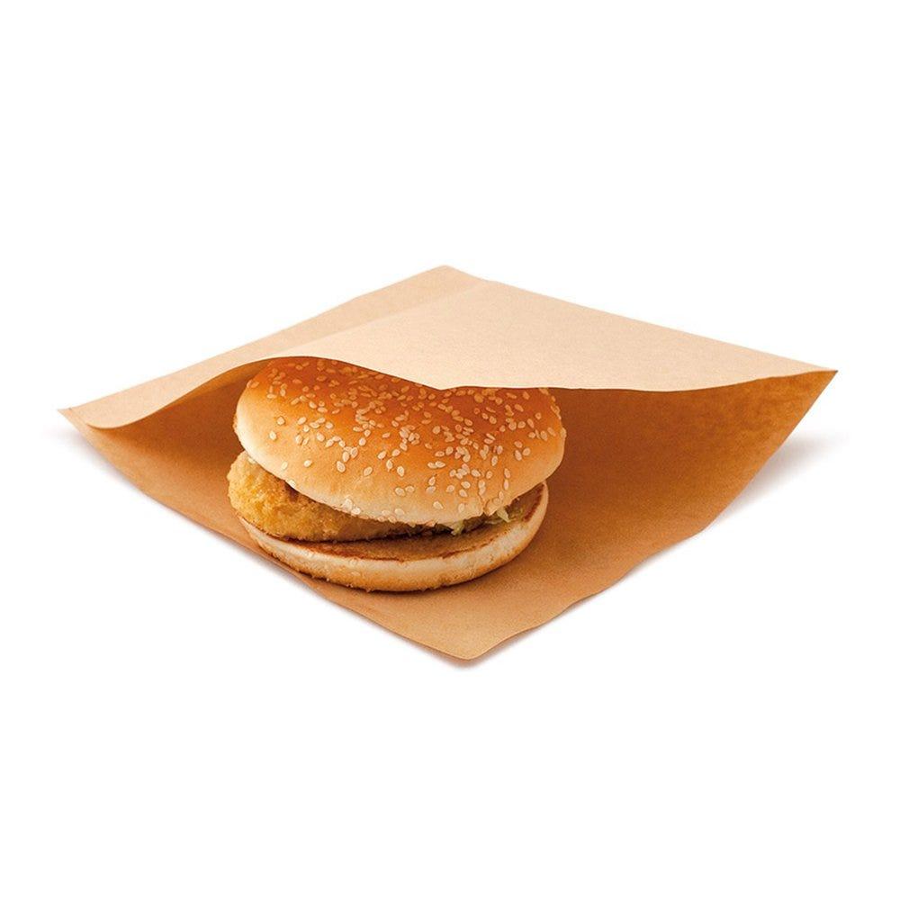 Sachet papier laminé Kraft 2 côtés ouverts 18x18,2cm - par 100