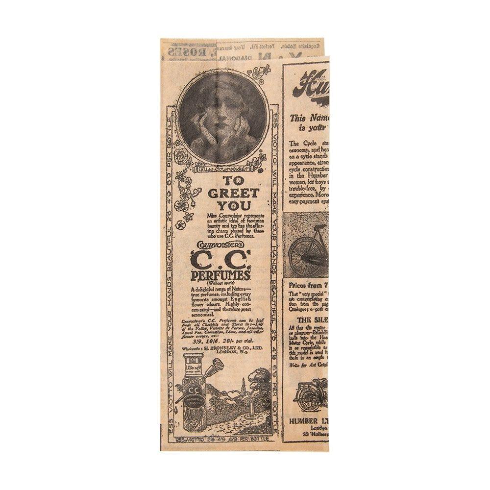 Sachet papier nature ingraissable Time p/ hot dog 2 côtés ouv 9+3x22cm par 500