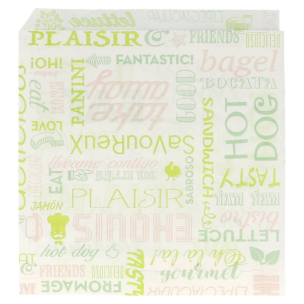 Sachet papier ingraissable Parole 2 côtés ouverts 16x16,5cm - par 500