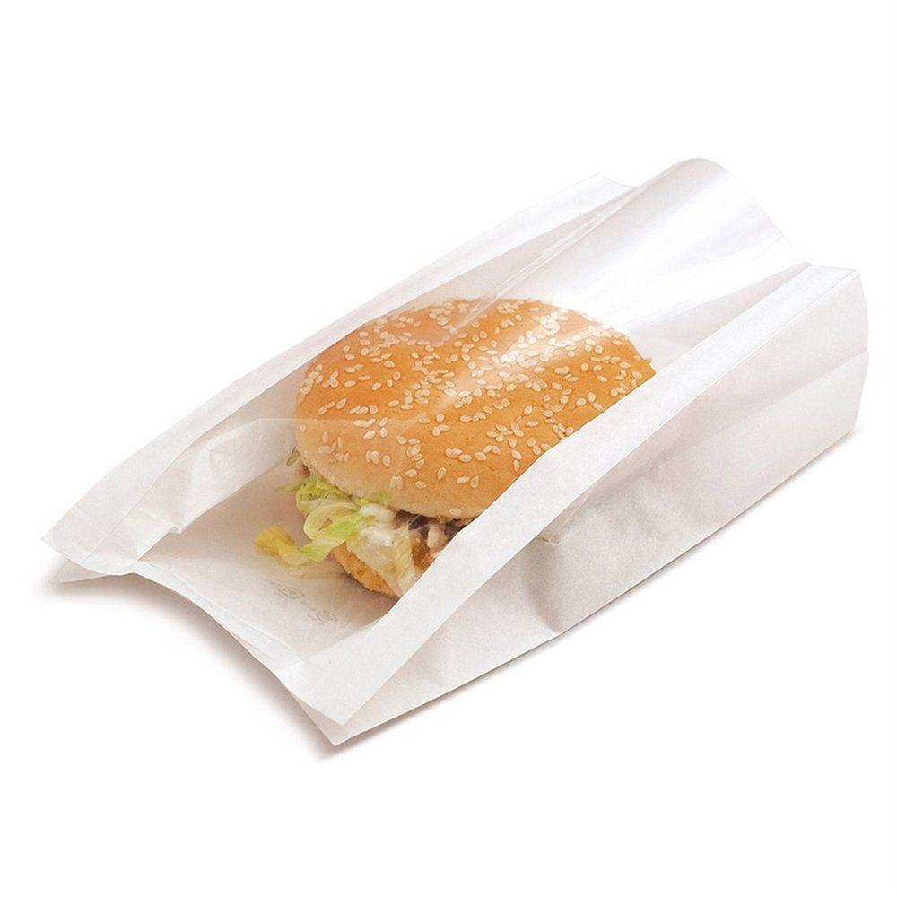 Sac sandwich à fenêtre blanc 16x11+5x21 cm - par 100