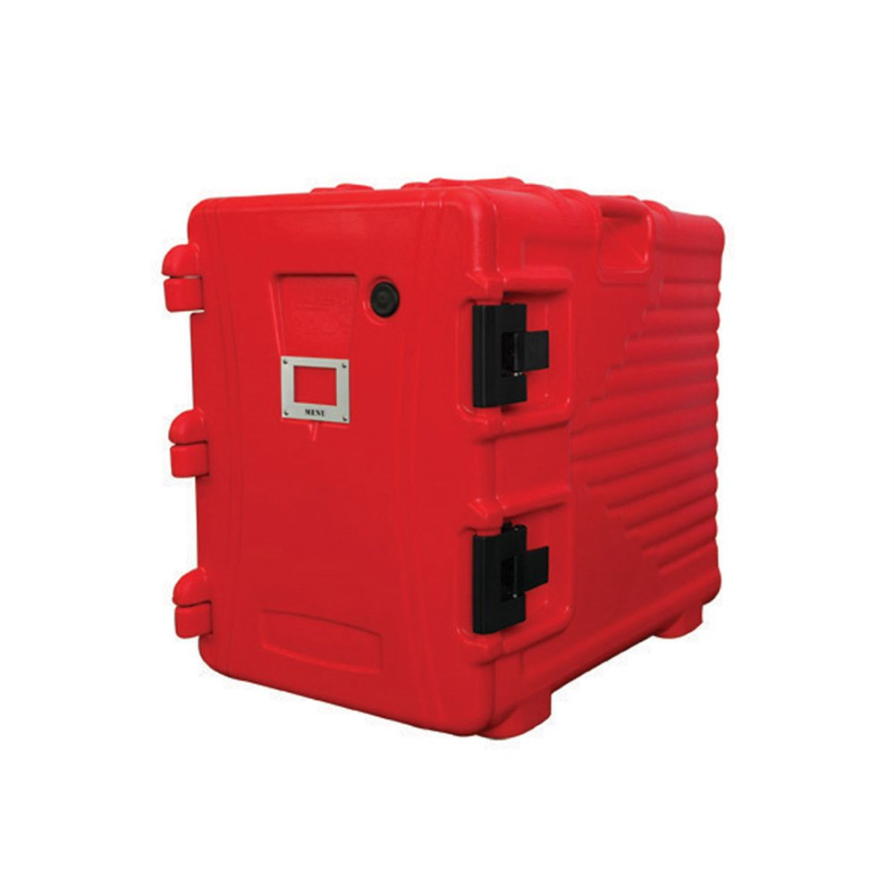 Armoire isotherme plastique rouge 90L 62x43x64cm (photo)
