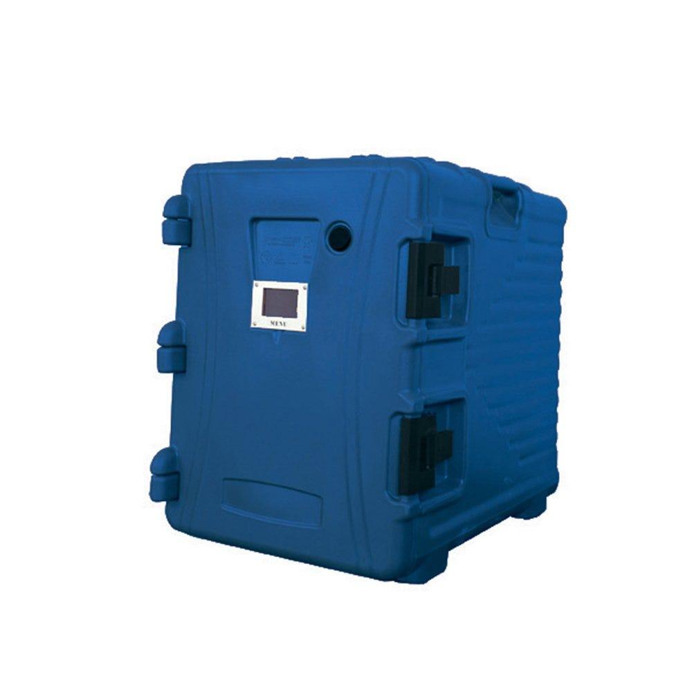 Armoire isotherme plastique bleu 90L 62x43x64cm (photo)