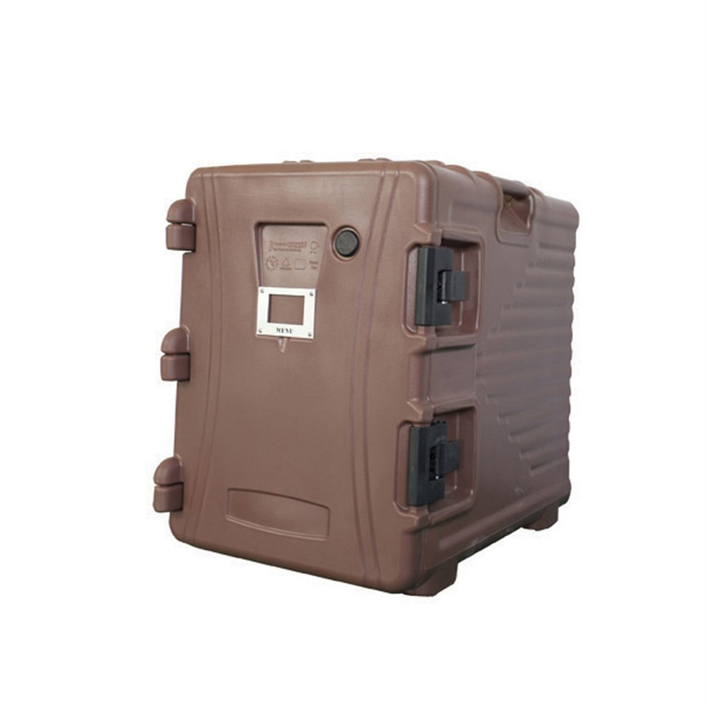 Armoire isotherme plastique marron 90L 62x43x64cm - par 1 (photo)