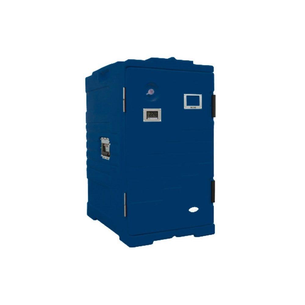 Armoire isotherme plastique bleu 115L 61x43x81cm (photo)