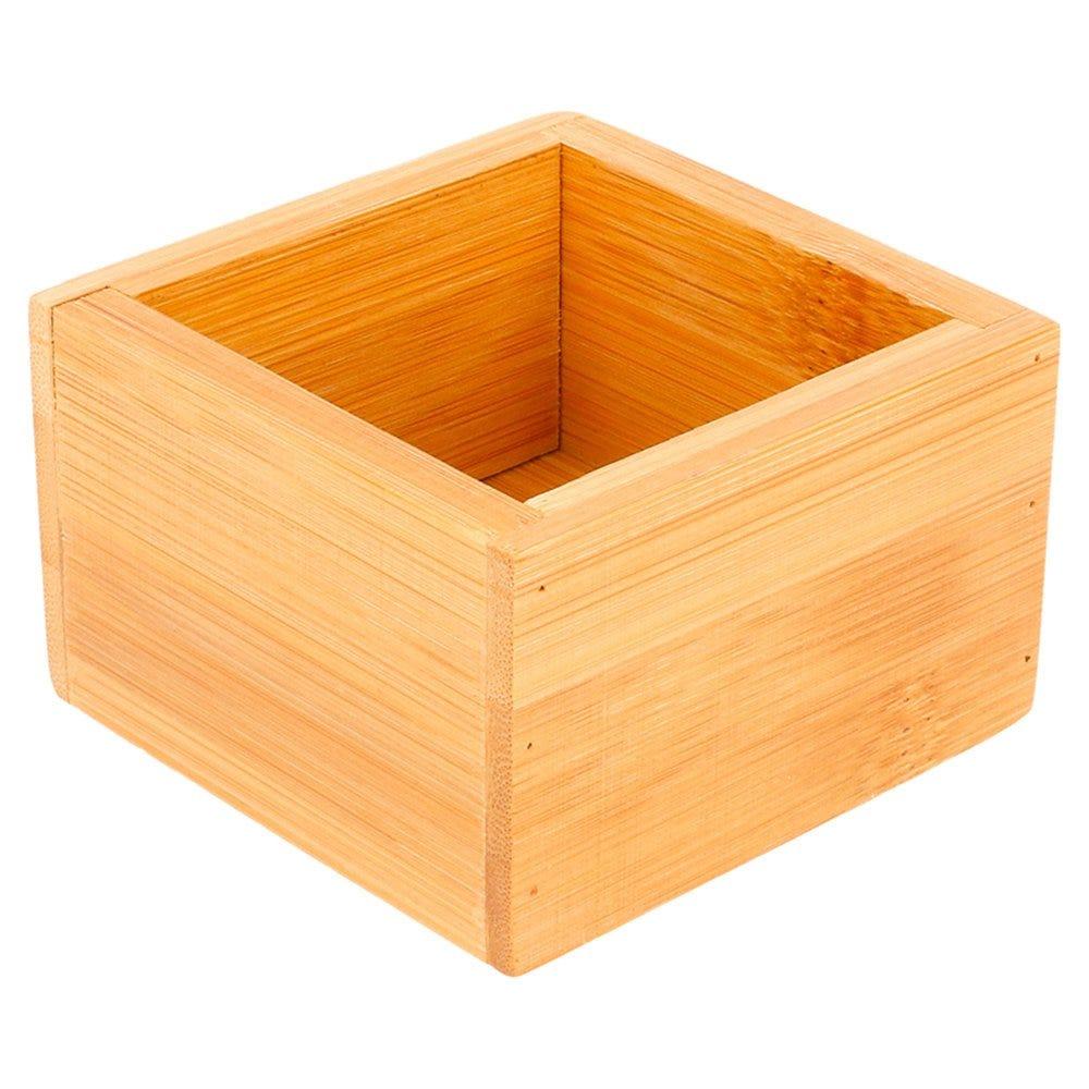 Boîte de présentation pour buffet en bambou naturel 8x8x5cm