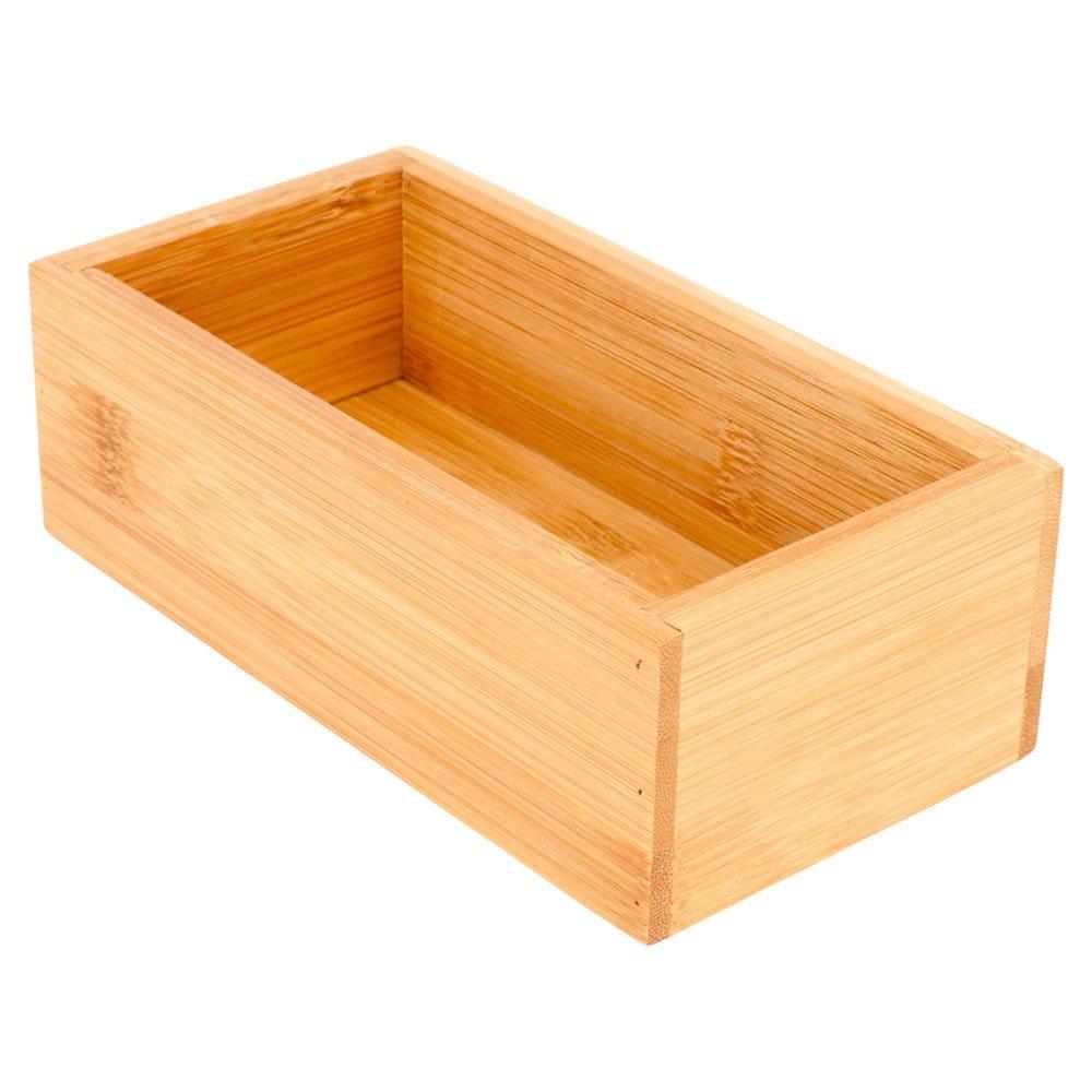 Boîte de présentation pour buffet en bambou naturel 8x15,5x5cm