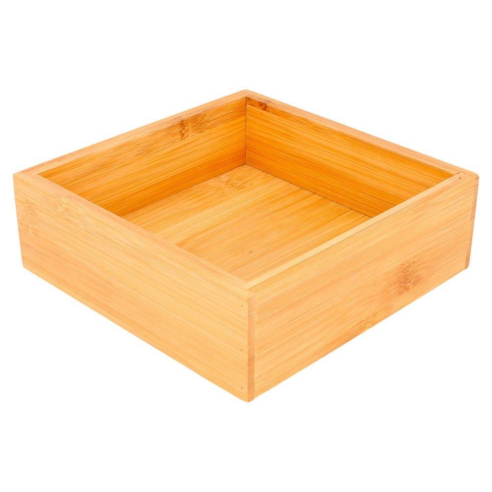 Boîte de présentation pour buffet en bambou naturel 15,5x15,5x5cm