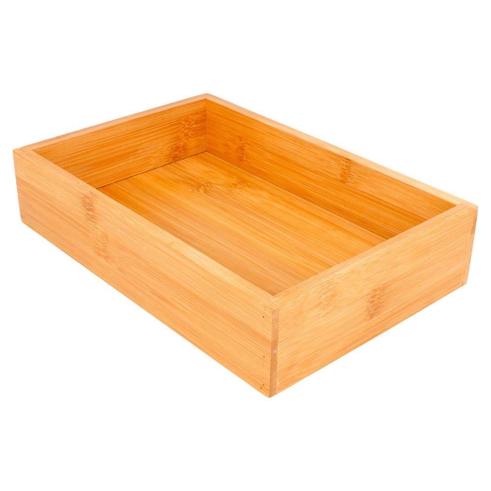 Boîte de présentation pour buffet en bambou naturel 15,5x23x5cm