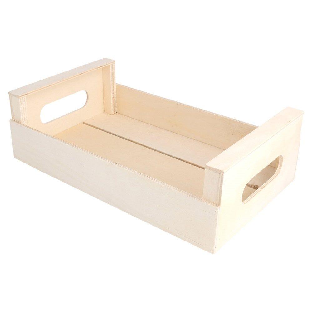 Cagette de présentation à poignées en bois 25x15x7,5cm - par 20