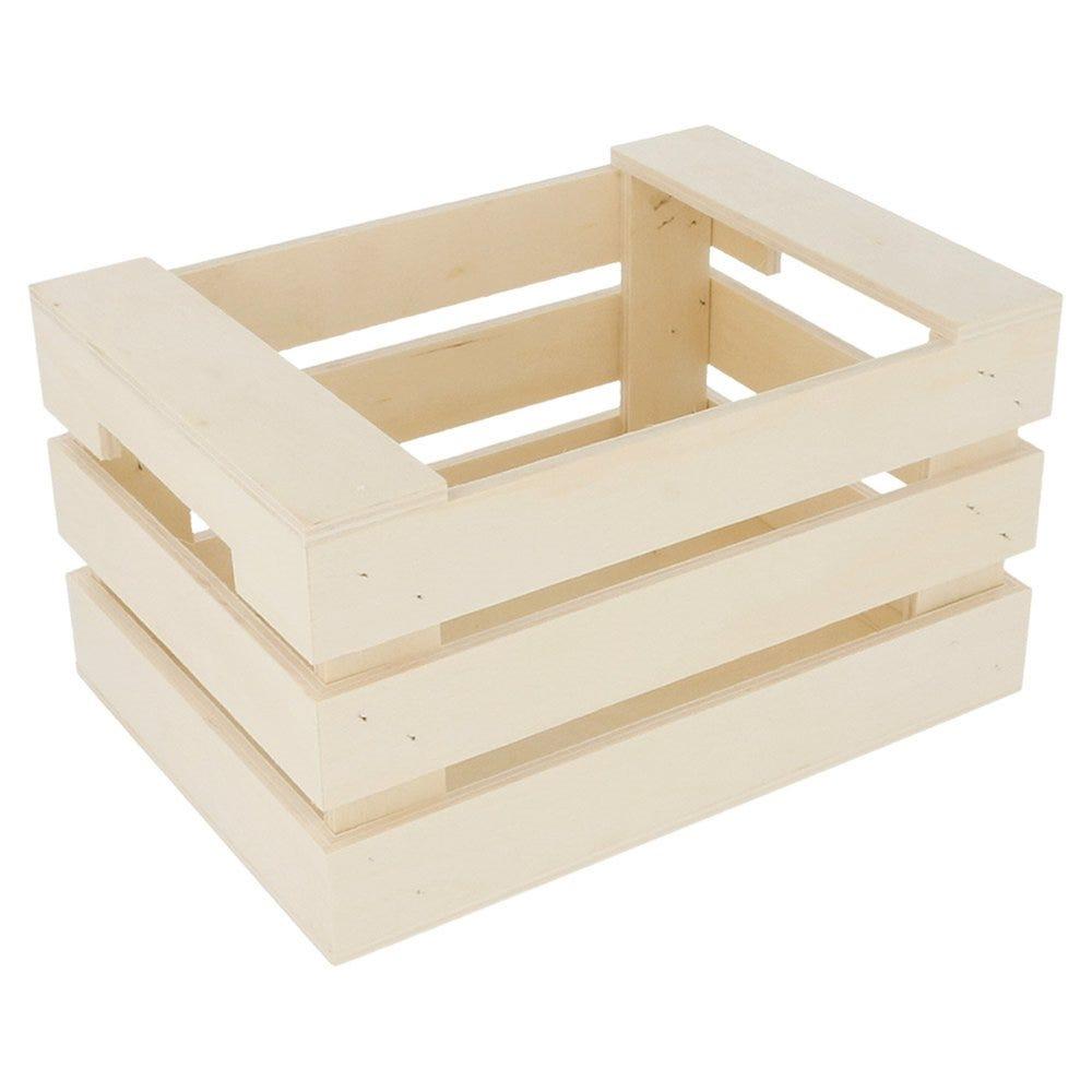 Cagette de présentation à poignées en bois 17x12x9cm - par 20