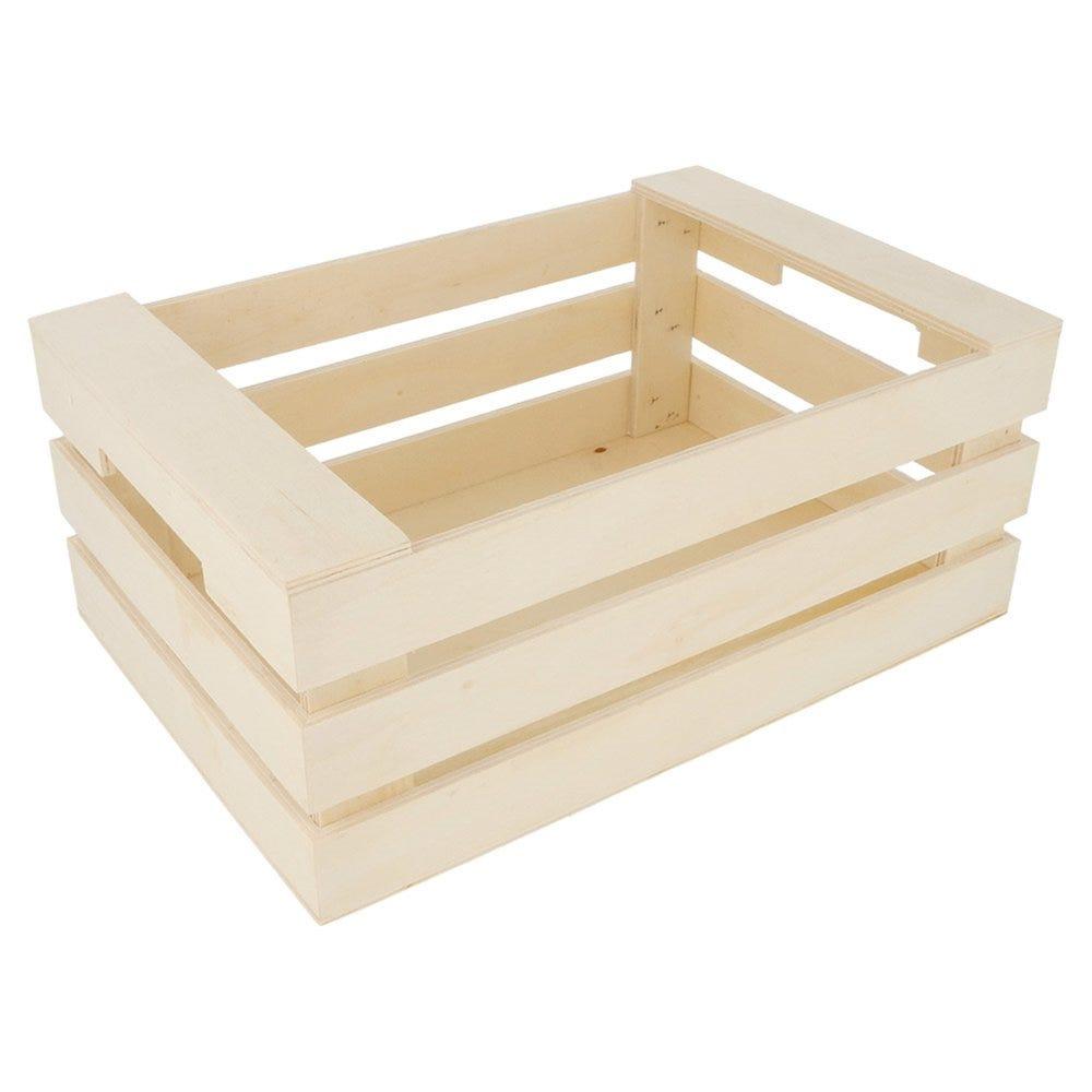 Cagette de présentation à poignées en bois 25x17x10cm - par 20