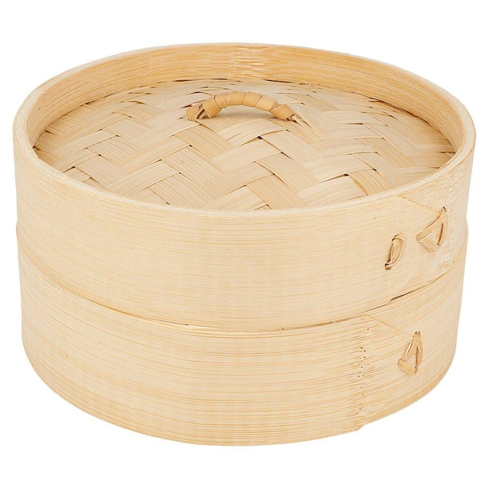 Panier Dim Sum +couvercle en bambou naturel Ø15x8cm