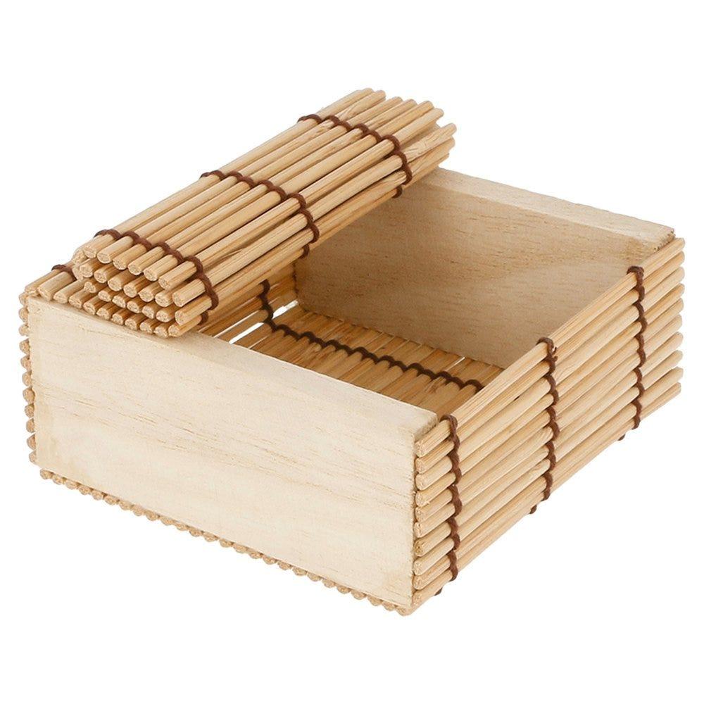 Boîte de présentation sushis en bambou 8,5x8,5x4cm - par 50 (photo)
