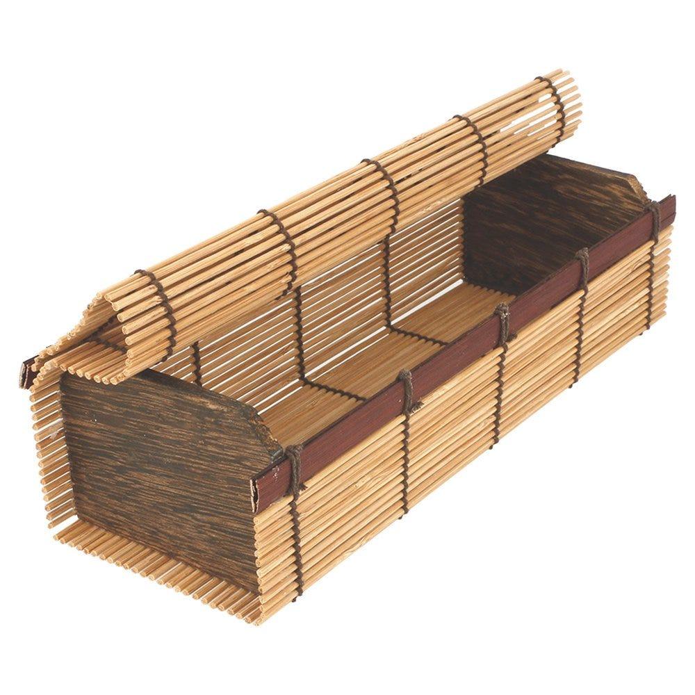 Boîte de présentation sushis en bambou 23x8x6cm - par 24 (photo)