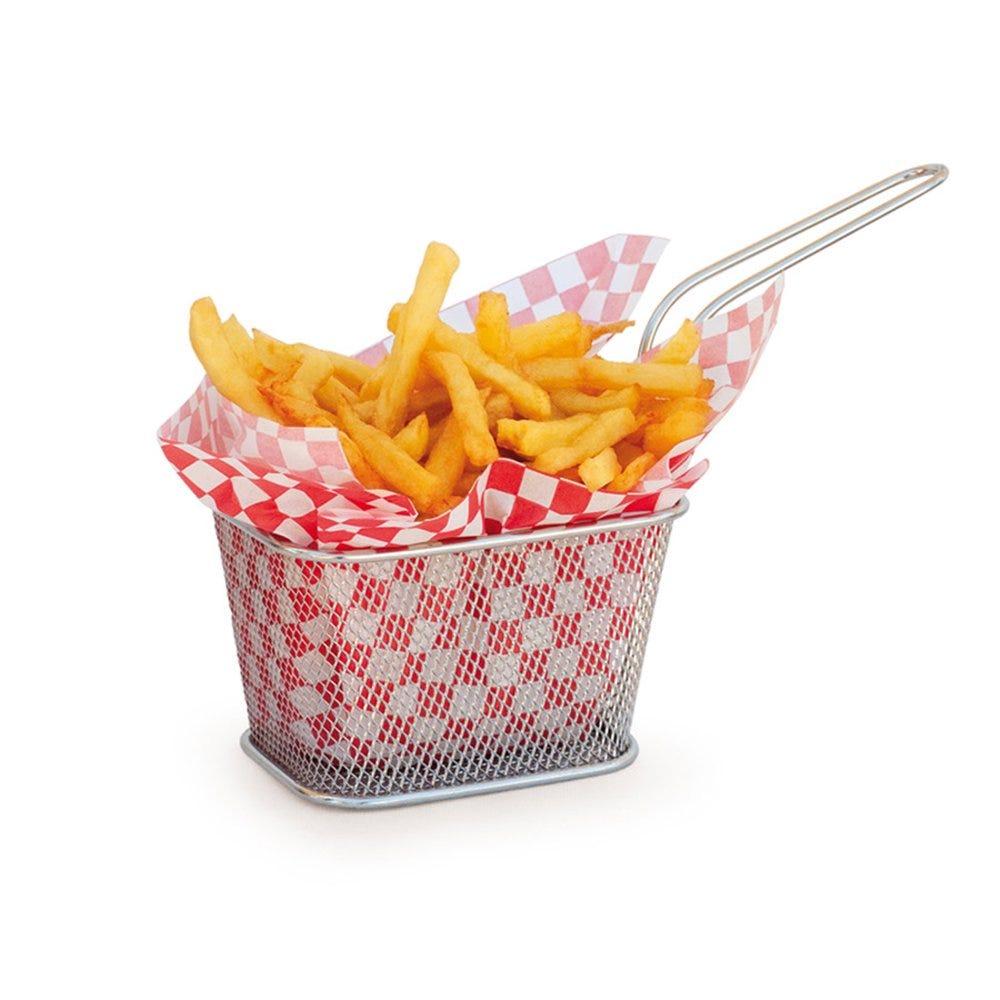 Mini friteuse carré inox 10x10x7,5cm - par 6