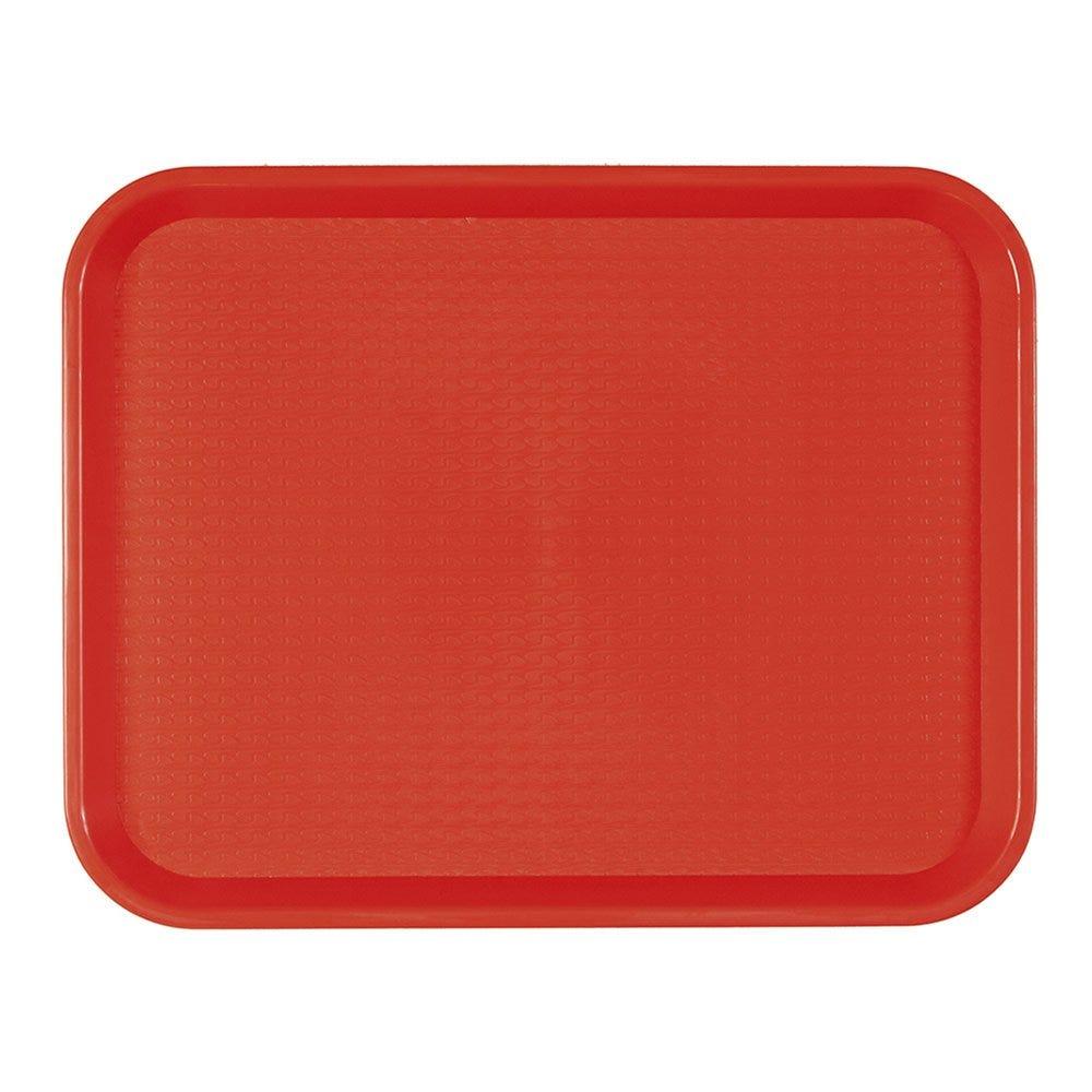Plateau fast food rouge 27,5x35,5cm - par 1