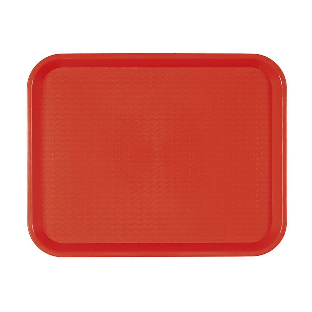 Plateau fast food rouge 35,5x45,3cm - par 1
