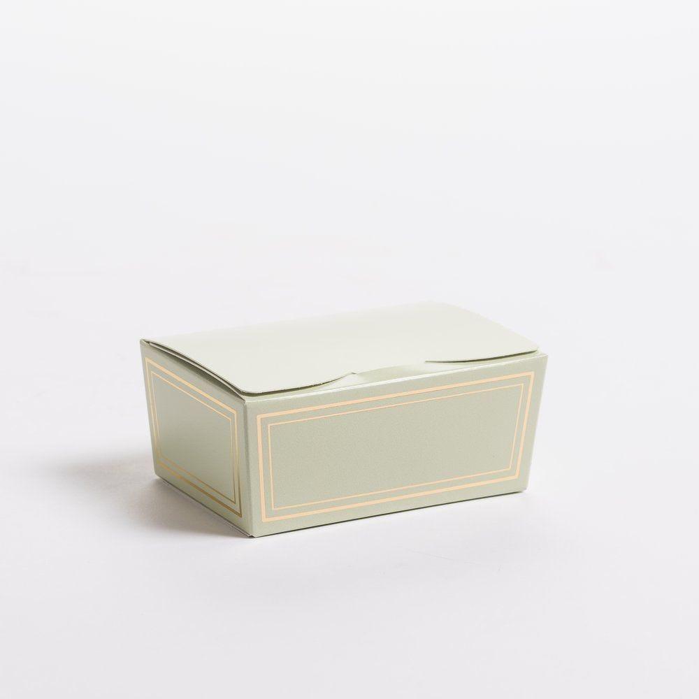 Ballotin Elegance vert 250g L 11,5 x P 7,5 x H 5 cm par 20