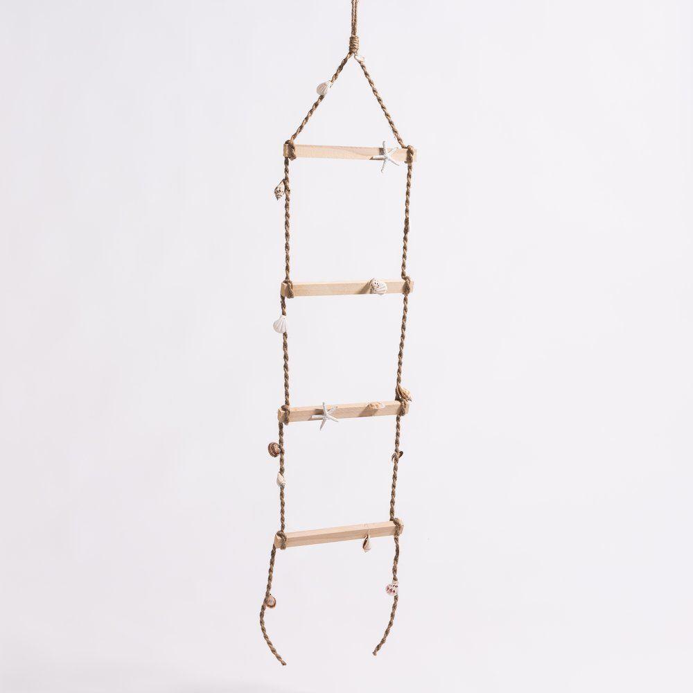 Echelle décor coquillages L 30 x H 150 cm (photo)