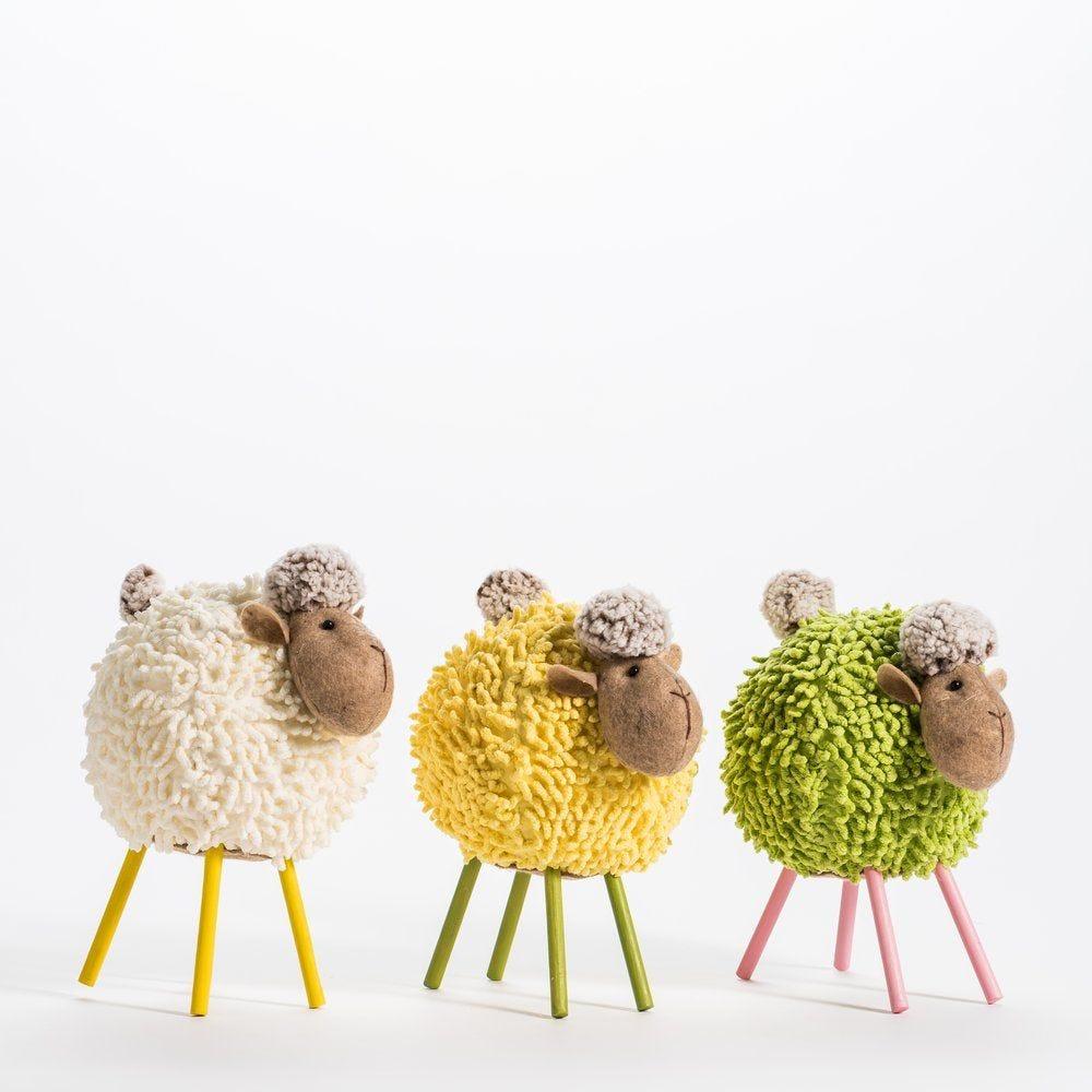 Mouton boule 3 coloris possibles L.20 x H.24 cm (photo)