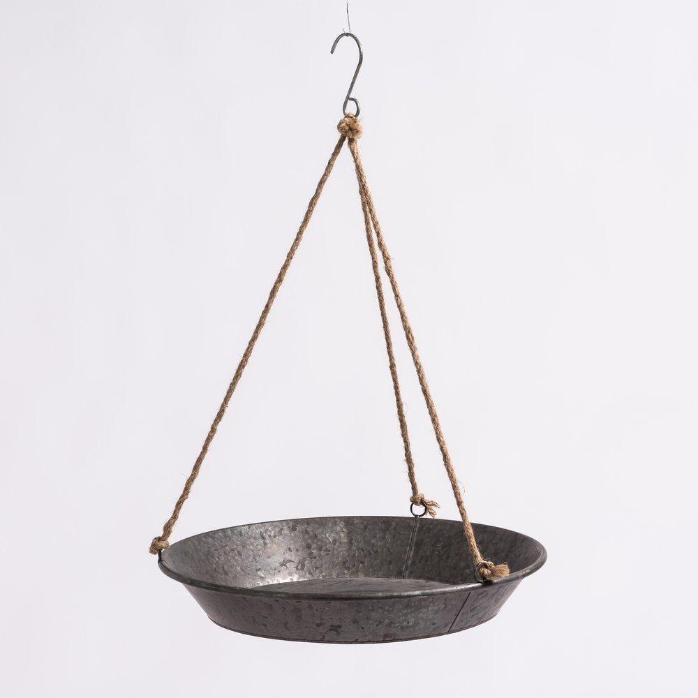Assiette suspendue en zinc D 52 x 10 cm (photo)