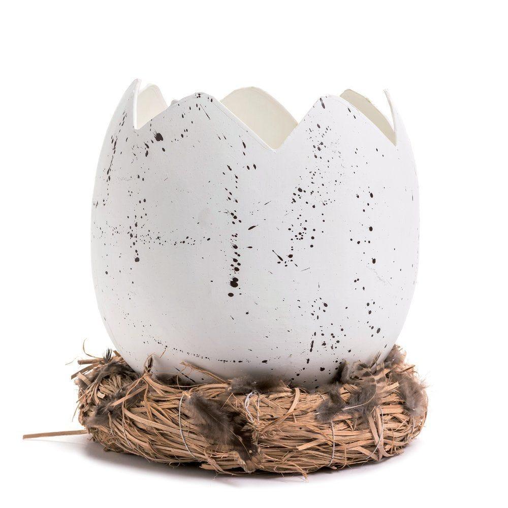 Coquille d'oeuf sur nid D 24 x H 24 cm (photo)