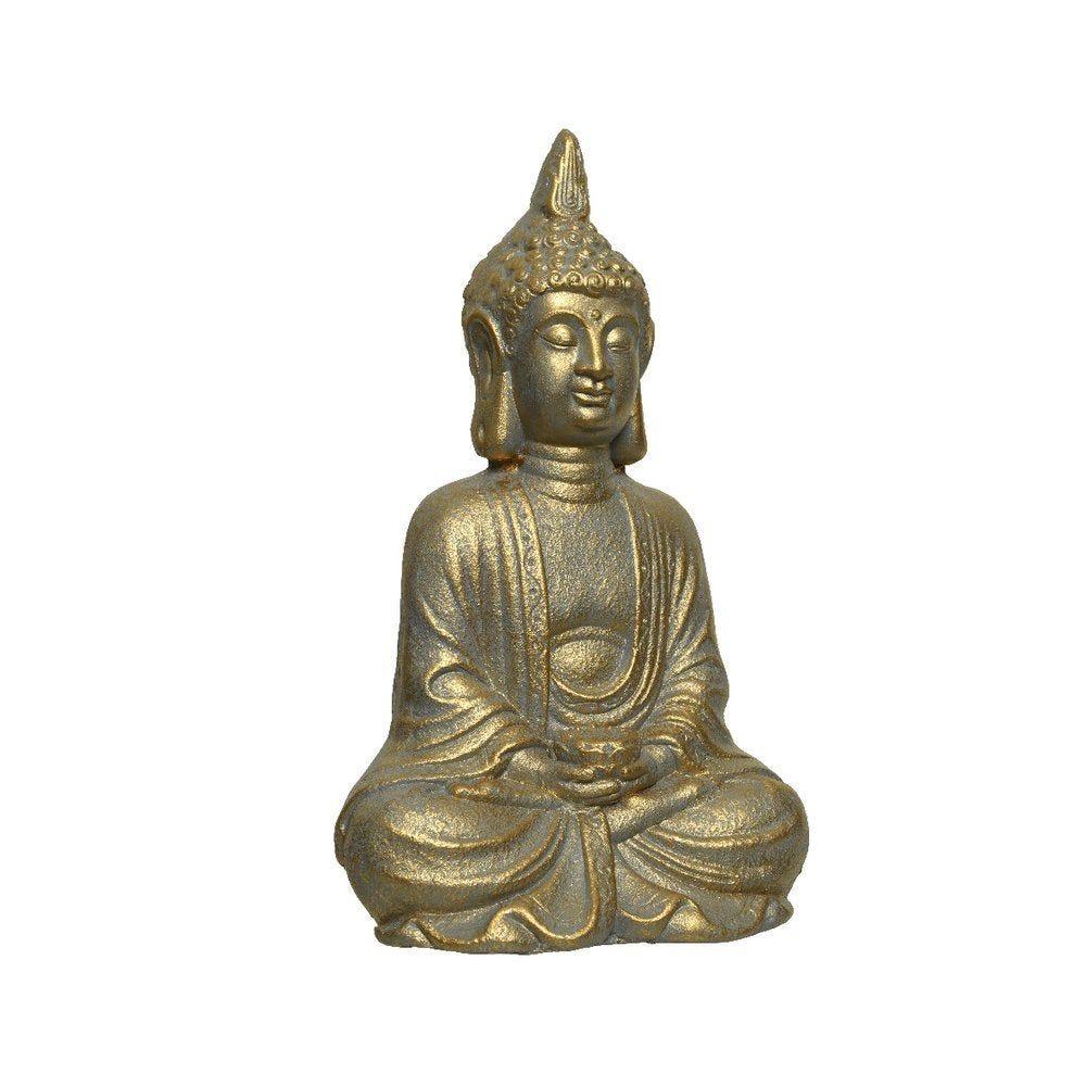 Bouddha assis or 17x22,5x37cm