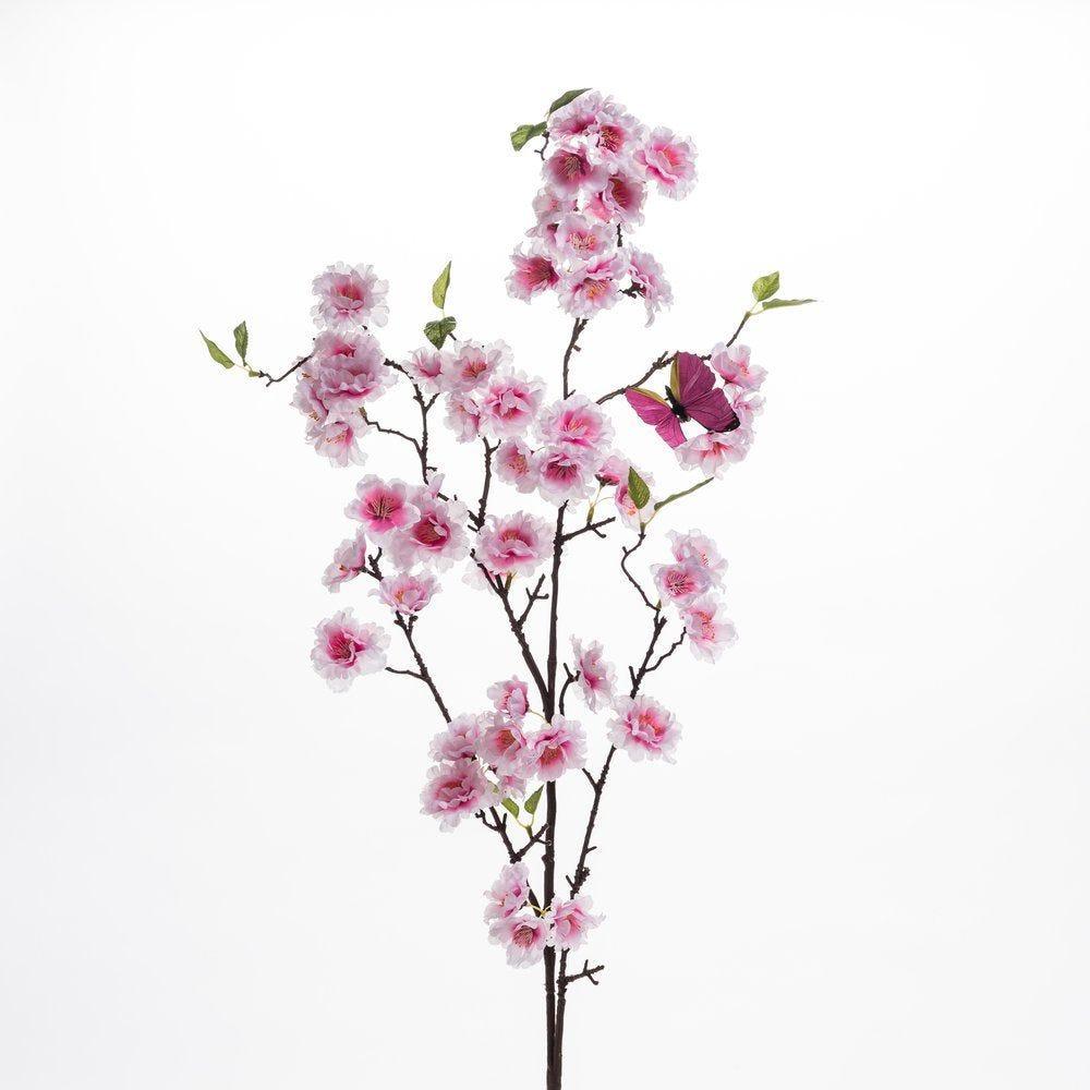 Branche de cerisier rose L 112 cm (photo)