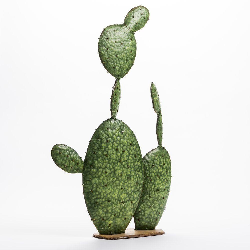 Cactus vert sur socle 41x69cm (photo)