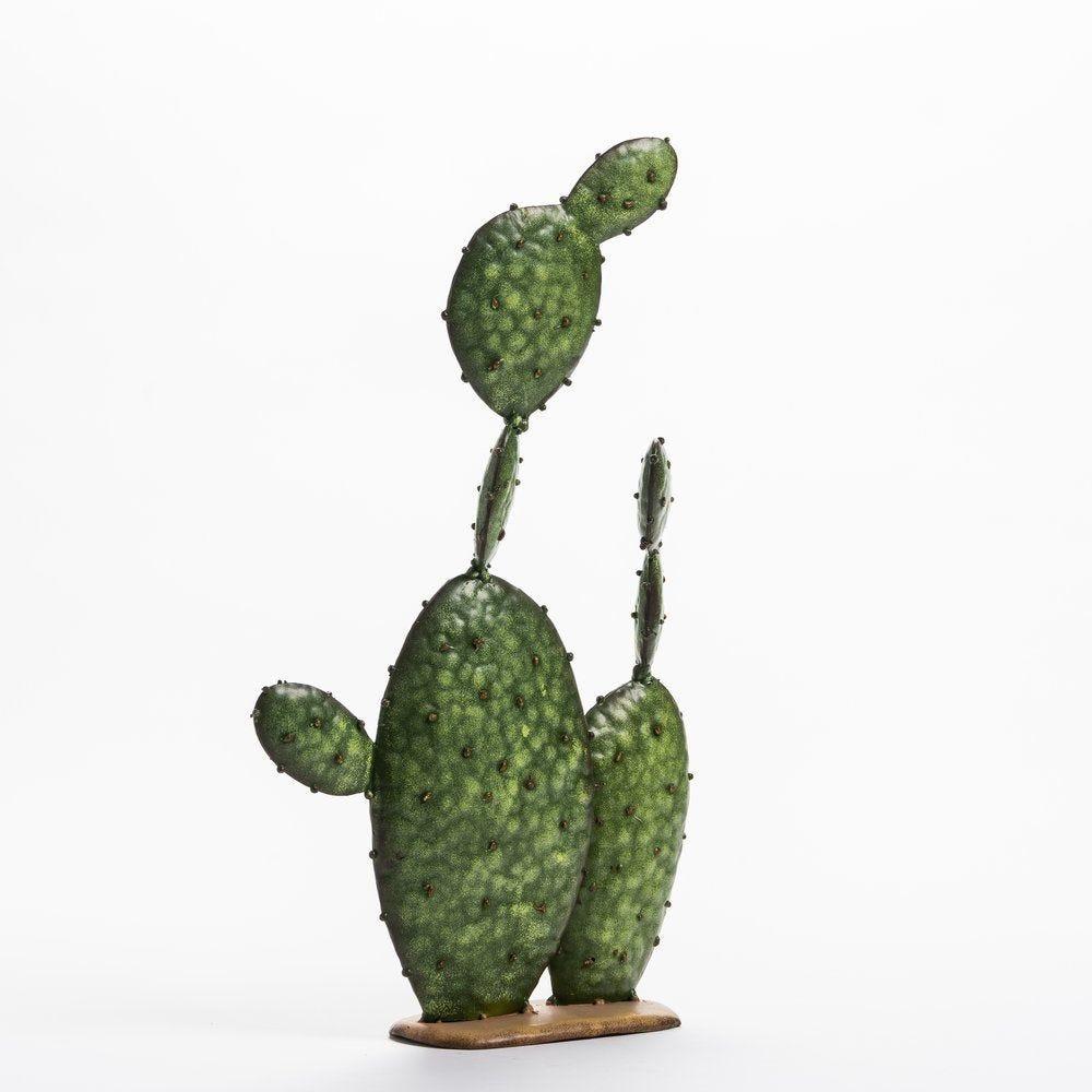 Cactus vert sur socle L 15.5 x H 24.5 cm (photo)