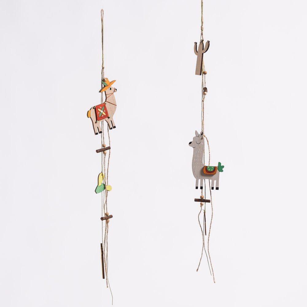 Guirlande lamas et cactus L 70 cm - 2 coloris possibles (photo)