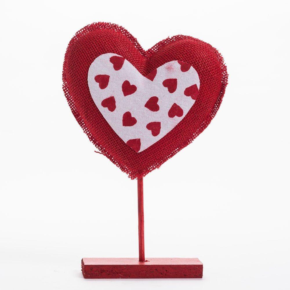Coeur sur pied avec mini coeurs L 23 x P 35 cm (photo)