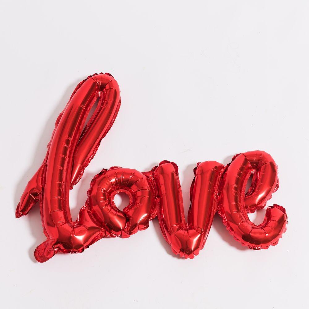 Ballons coeurs et Love - set de ballon composé de 10 pièces (photo)