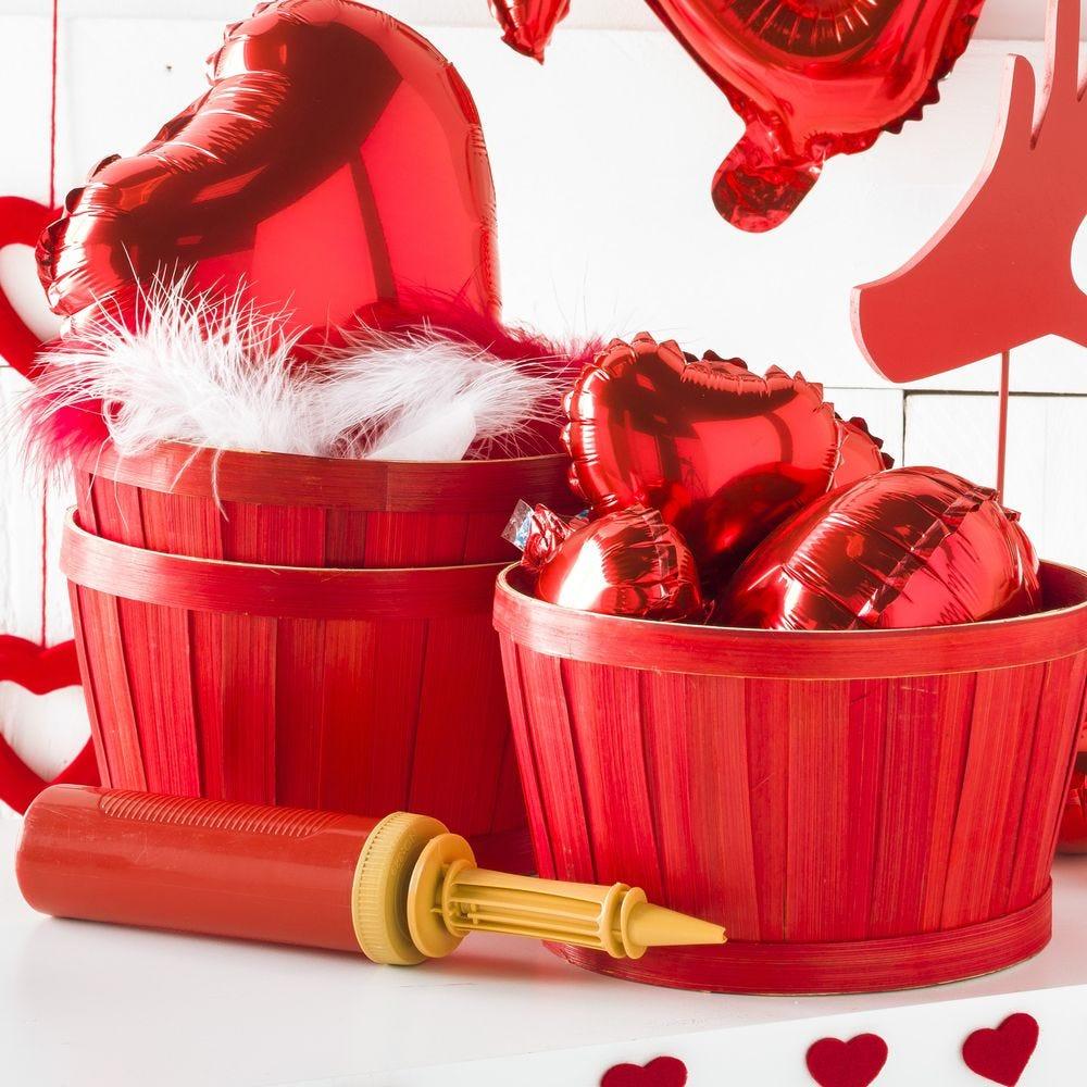 Pompe pour ballons Ø 5 x H 28 cm - 3 coloris possibles (photo)