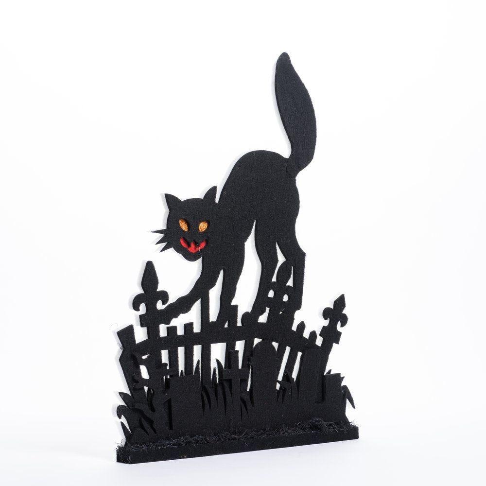 Barrière chat noir en ouate L 49 x H 70 cm (photo)