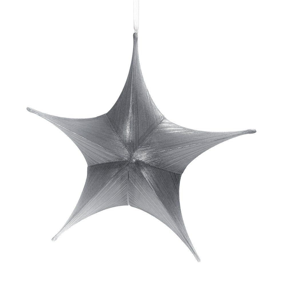 Etoile lurex argent Ø 40 cm (photo)