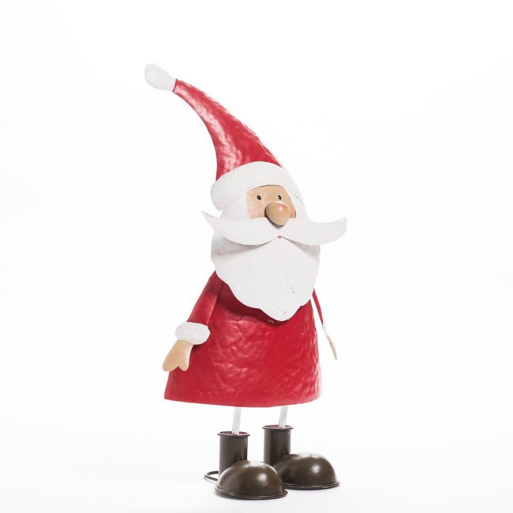 Père Noel métal rouge et blanc H 48 cm (photo)