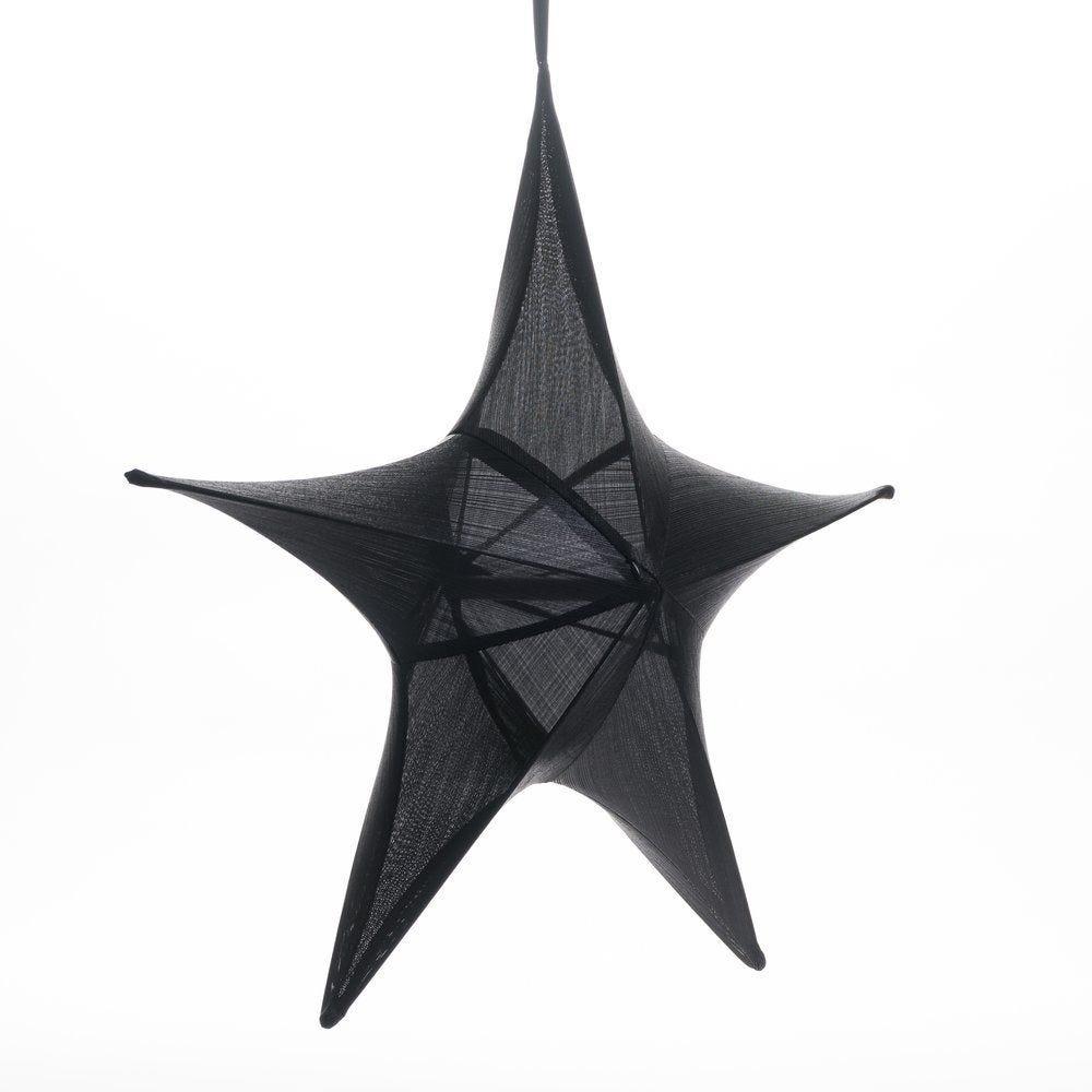 Etoile lurex noire Ø 65 cm (photo)