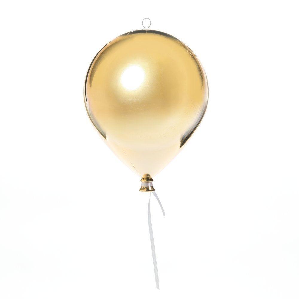 Ballon en plastique or brillant à suspendre d. 20 cm (photo)