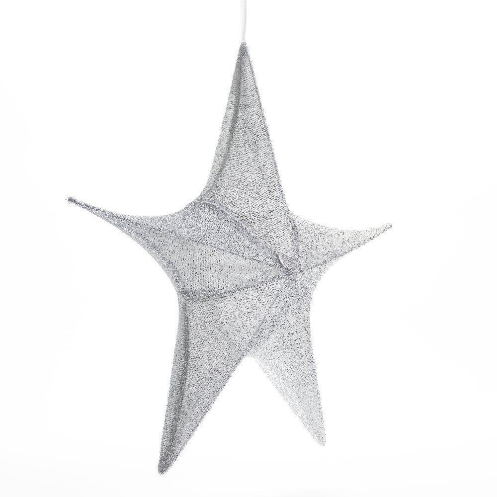 Etoile lurex argent Ø 65 cm (photo)