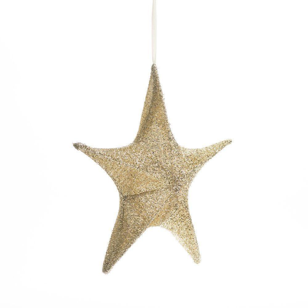 Etoile pliable or glitter Ø 40 cm (photo)