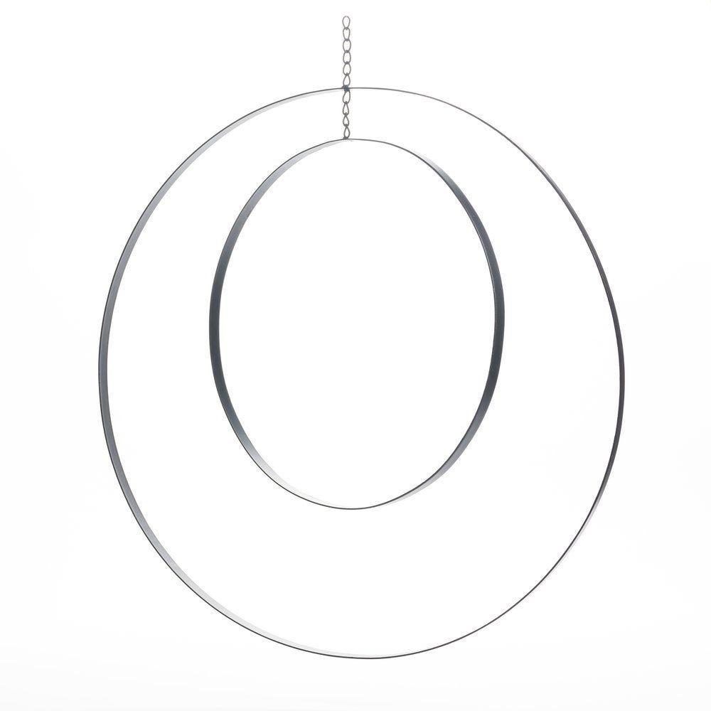 Cercles métal noir Ø 61+ Ø 41cm (photo)