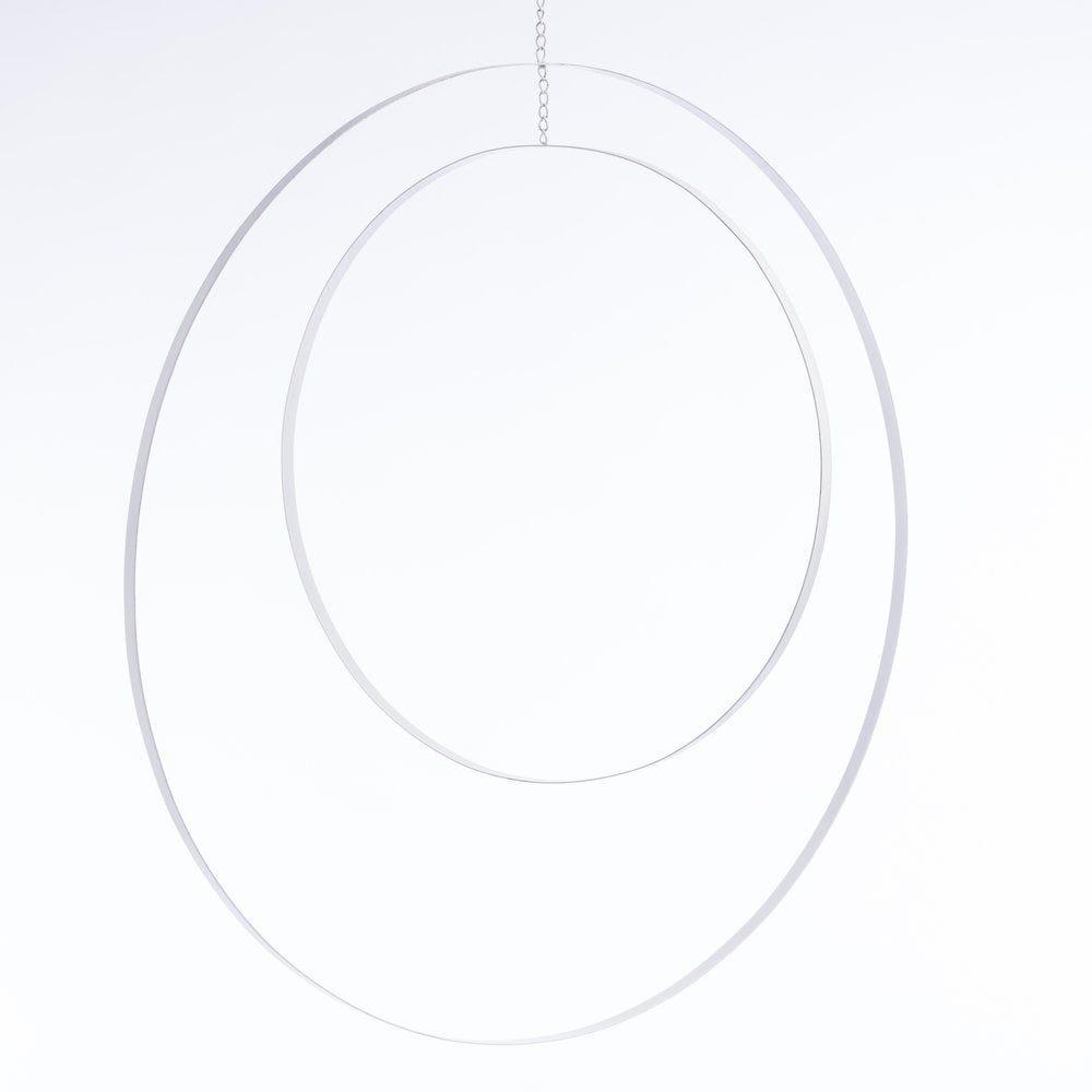 Cercles métal blanc Ø 61 + Ø 41 cm (photo)