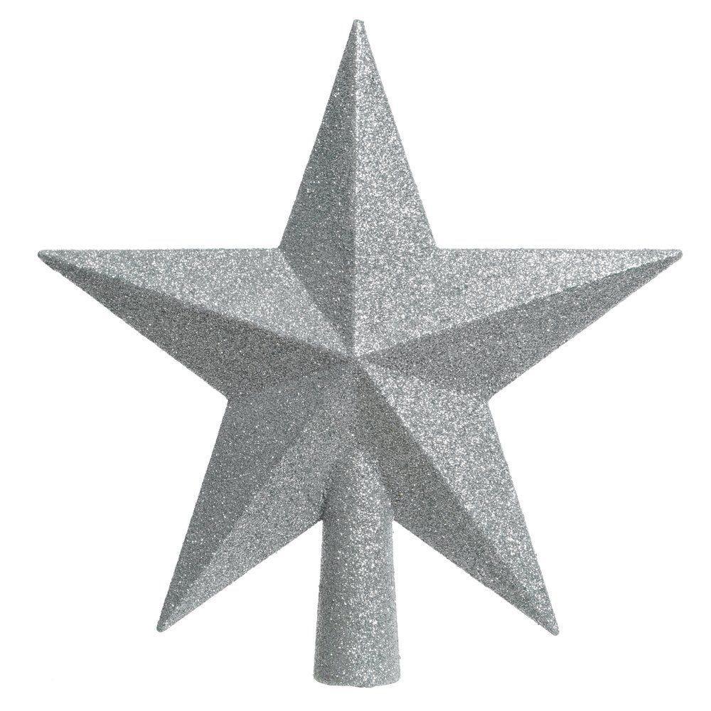 Cimier étoile argent Ø 19 cm (photo)