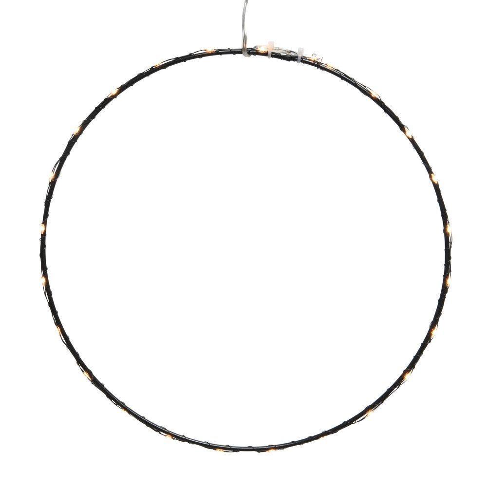 Cercle noir Ø 50 cm 60 microleds blanc classique (photo)
