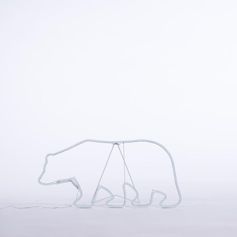 Ours néonflex L 76 x H 40 cm -260 leds blanc froid (photo)