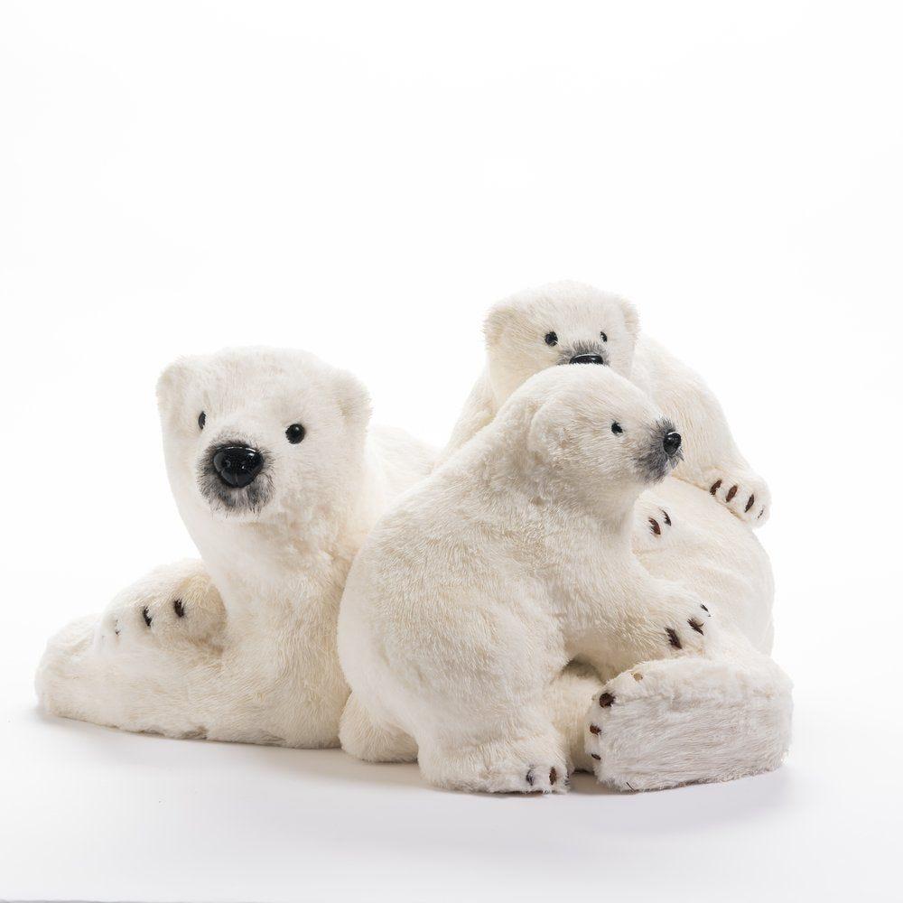 Maman ours et petits L 55 x P 43 x H 31 cm (photo)