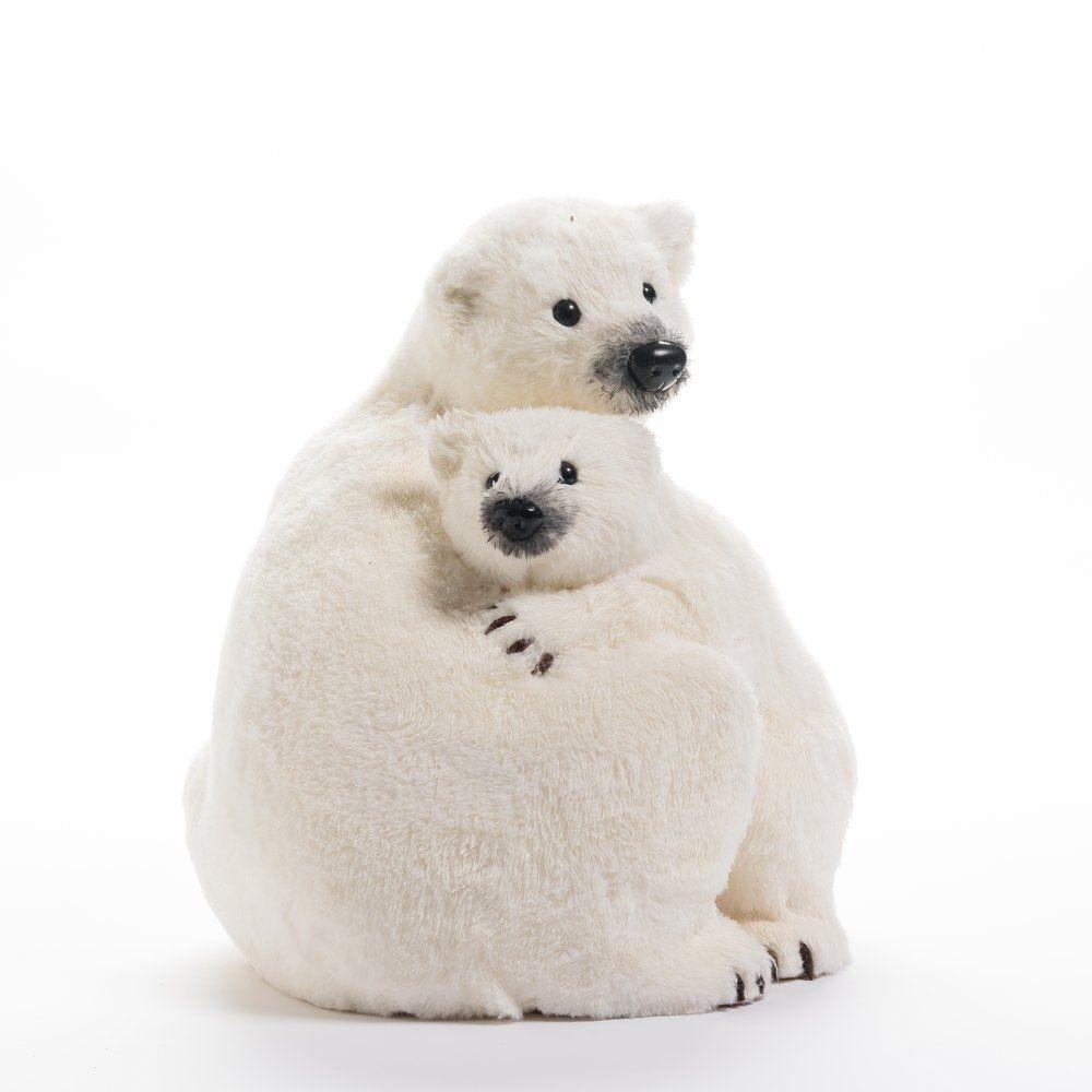 Maman ours et petit L 40 x P 35 x H 38 cm (photo)