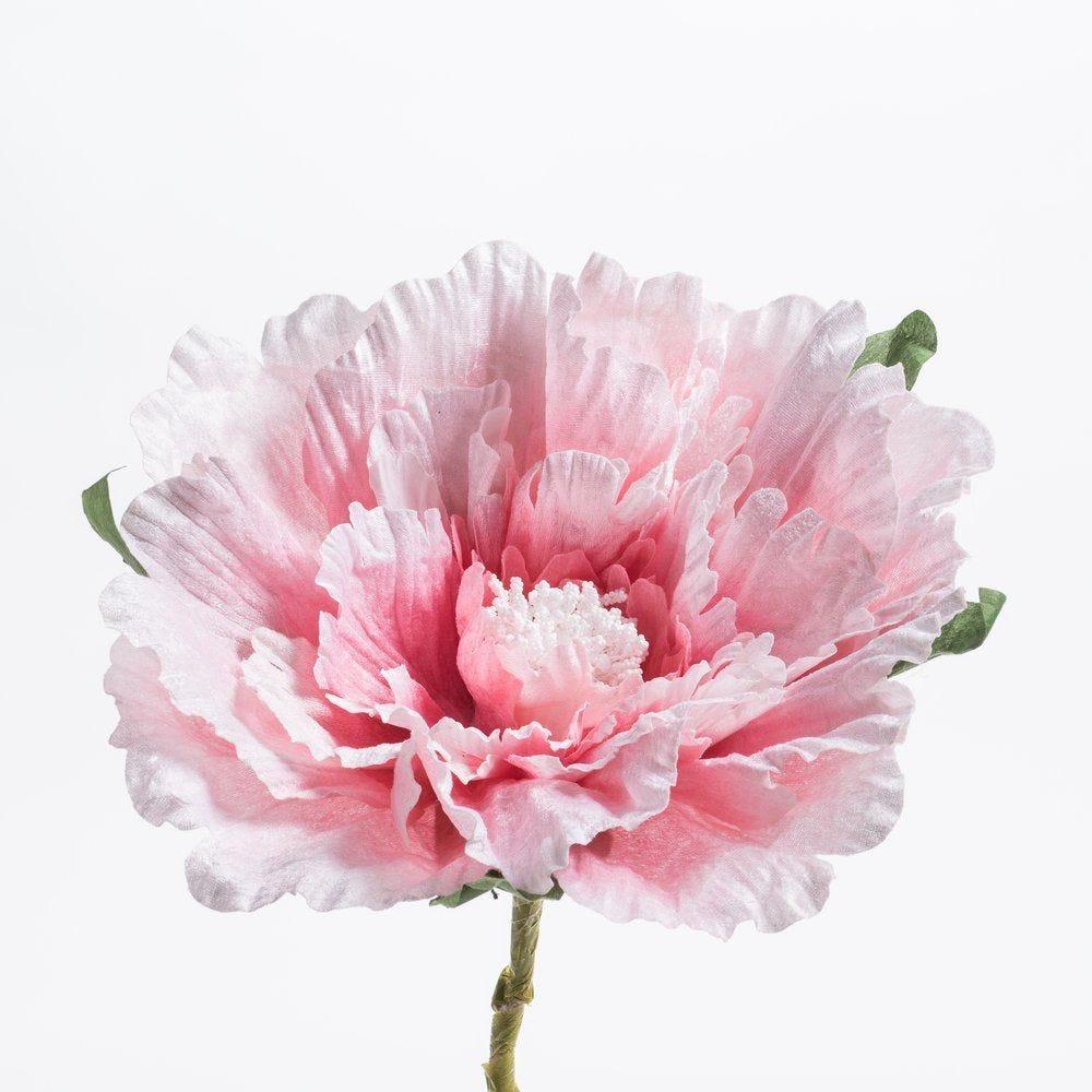 Fleur papier rose D.40 x H 50 cm (photo)